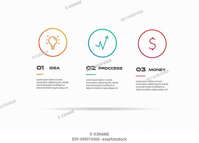 Icons infographics with world map. Element of chart, graph, diagram with 2 options - parts, processes, timeline. Vector business template for presentation