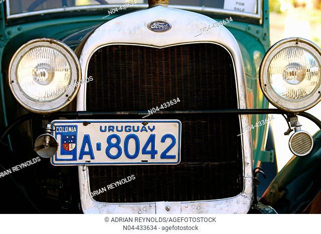 Old car. Colonia, Uruguay