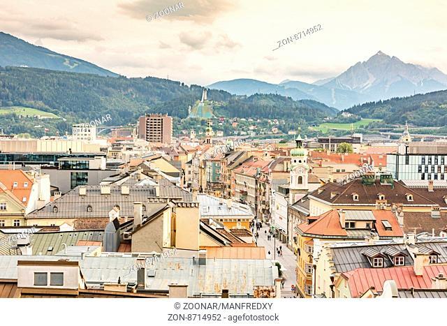 Aerial View over Innsbruck