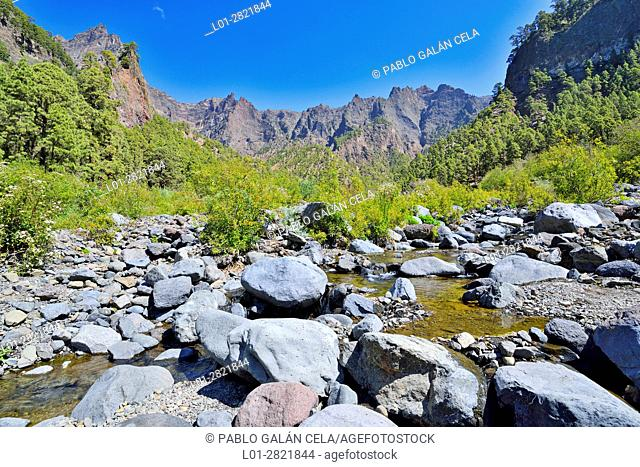 Barranco de las Angustias. Caldera de Taburiente National Park. La Palma. Canary islands