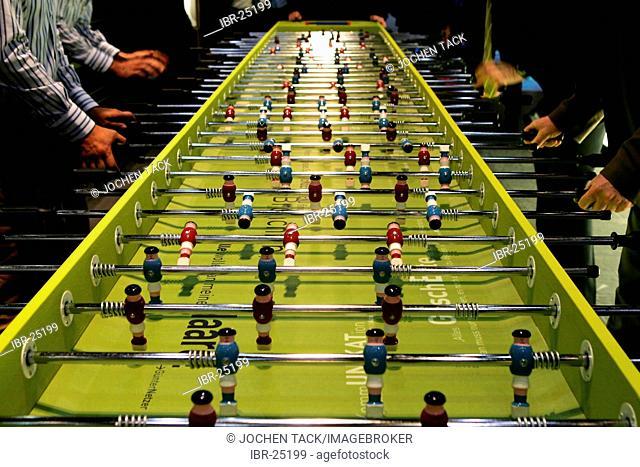 DEU, Germany, Duesseldorf. : Large table football game. Euroshop, tradeshow for shopfitting, store equipment, visual merchandising, Promotion