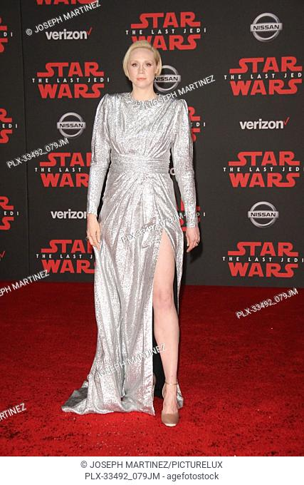 """Gwendoline Christie at the World Premiere of Lucasfilm's """"""""Star Wars: The Last Jedi"""""""" held at the Shrine Auditorium in Los Angeles, CA, December 9, 2017"""