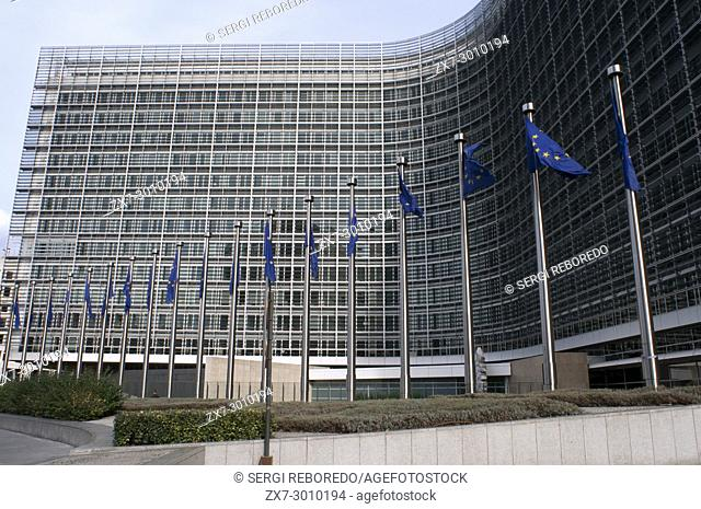 Brussels Berlaymont Building. Headquarters of the European Commission, EC, the executive of the European Union, EU