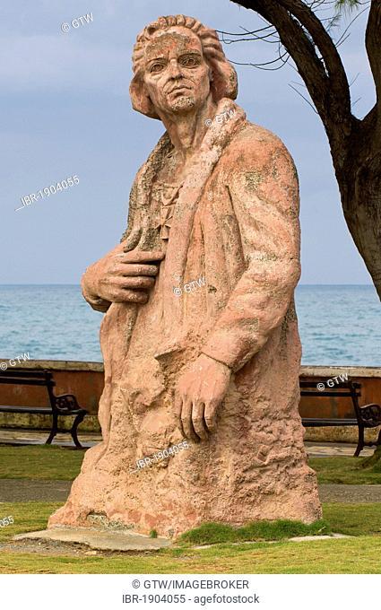 Christopher Columbus statue, Baracoa, Guantanamo province, Cuba