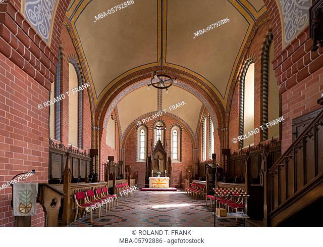 Germany, Mecklenburg-Western Pomerania, Röbel, Nikolaikirche, tree-aisled hall church