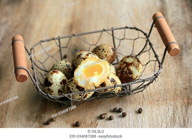 A lot fried quail eggs