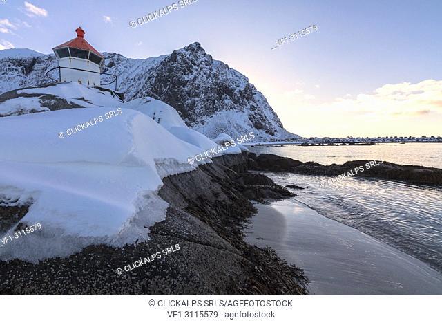 Lighthouse, Eggum, Vestvagoy, Lofoten Islands, Norway