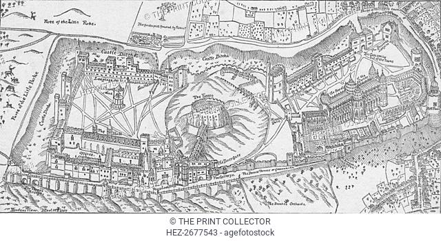'Norden's View of Windsor Castle, 1607.' 1895. Artist: John Norden