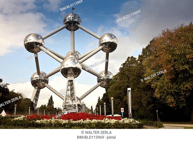 Public art in urban park, Brussels, Benelux, Europe