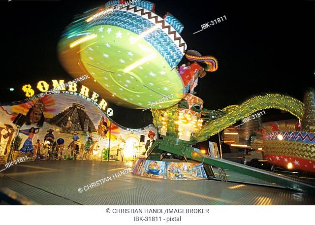 Fairground at the public festival in Berndorf Triesting valley Lower Austria