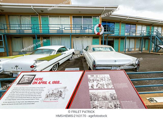 United States, Tennessee, Memphis, Lorraine Motel where Martin Luther King was murdered on 04 April 1968