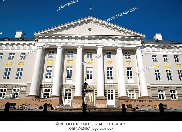Ülikool the University main building Tartu Estonia the Baltic States Europe