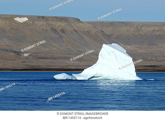 Iceberg near the shore of Devon Island, Northwest Passage, Nunavut, Canada, Arctic