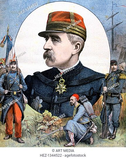 General Jacques Duchesne, commander of the French expeditionary force to Madagascar, 1894. France invaded Madagascar in 1895 to bring the island under its...