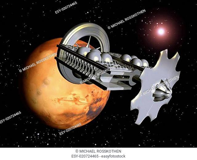 Der Flug zum Mars
