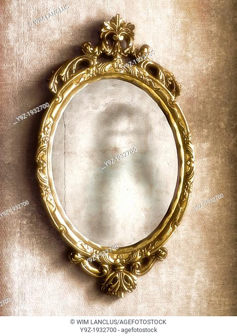 Ghost reflection in antique mirror