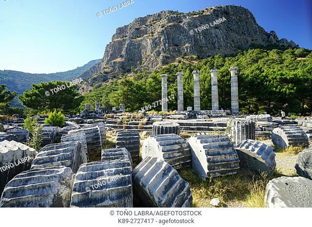 Sanctuary of Athena. Priene. Ancient Greece. Asia Minor. Turkey