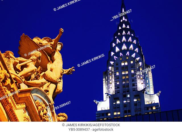 Grand Central Station and Chrysler Building, New York