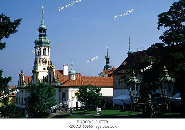 Church and shrine house Loreto Prague Czechia