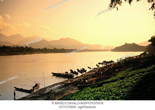 Mekong River. Luang Prabang. Laos
