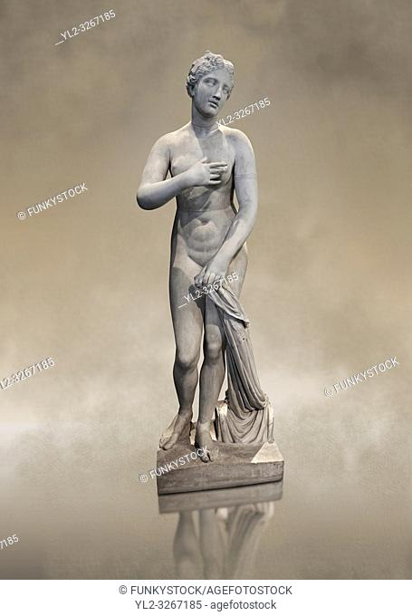 1st Century BC statue of Aphordite by Menophantos. The casket of the sculpture is inscribed â. œ of the Aphrodite which is situated in the Troad (Troy)...