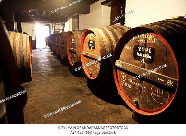 Portugal, Madeira, the capital Funchal, Blandy's Madeira Wine cellars