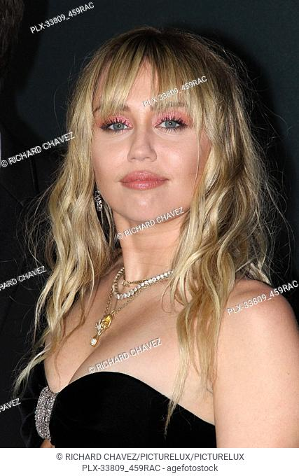 """Miley Cyrus at the Marvel Studios World Premiere of """"""""Avengers Endgame"""""""". Held at the Los Angeles Convention Center in Los Angeles, CA, April 22, 2019"""