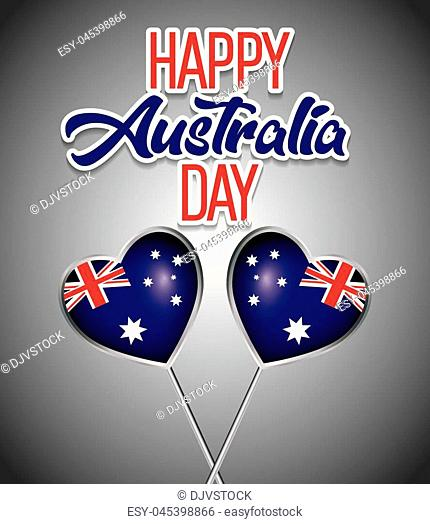 f841feb9526 happy australia day background national holiday vector illustration graphic  design