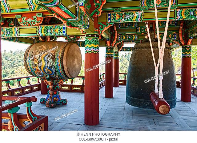 Bell at the Naksansa Temple, Naksansa, Yangyang, Gangwon province, South Korea