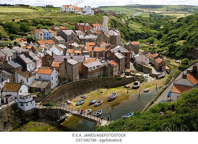Staithes Fishing Village North East Yorkshire UK July