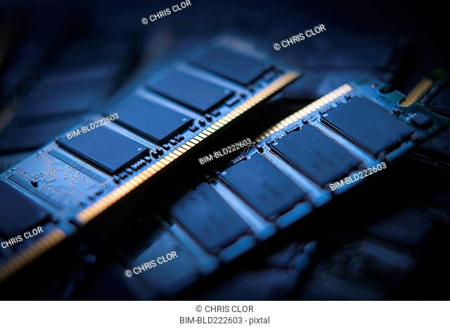 Pile of RAM modules