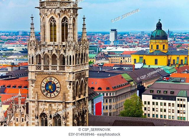 Glockenspiel Clock, Theatine Church in Munich