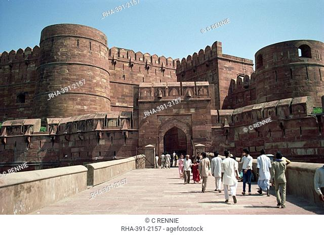 Amar Singh's Gate, Red Fort, UNESCO World Heritage Site, Agra, Uttar Pradesh state, India, Asia