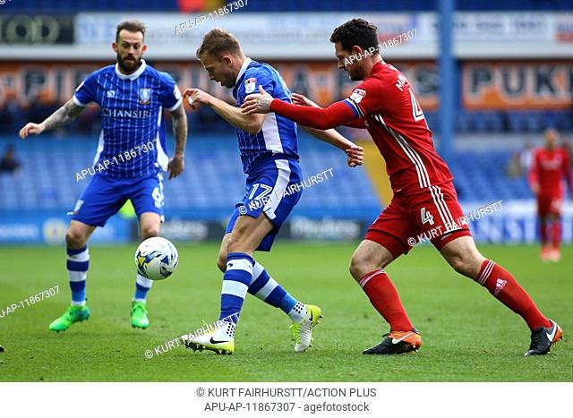 2017 Skybet Championship football Sheffield Wednesday v Cardiff Apr 14th. April 14th 2017, Hillsborough, Sheffield, Yorkshire; Skybet Championship football