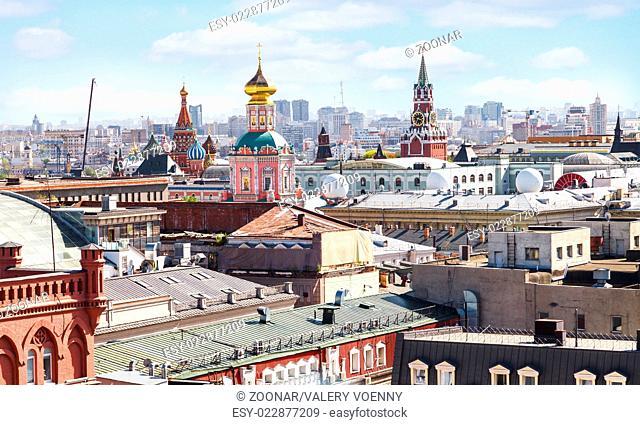 Moscow city skyline with Kremlin