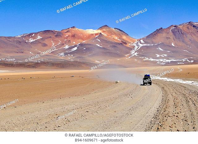 Area near Laguna Verde (Green Lagoon), salt lake in the southwest of the altiplano of Bolivia, in the Potosí Department, Sur Lípez Province