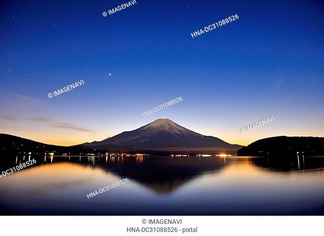Mt. Fuji under Moonlight