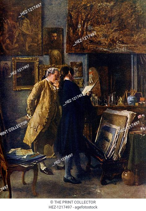 'An Artist showing his Work', c1850, (1912). A colour print from Famous Paintings, with an introduction by Gilbert Chesterton, Cassell and Company, (London