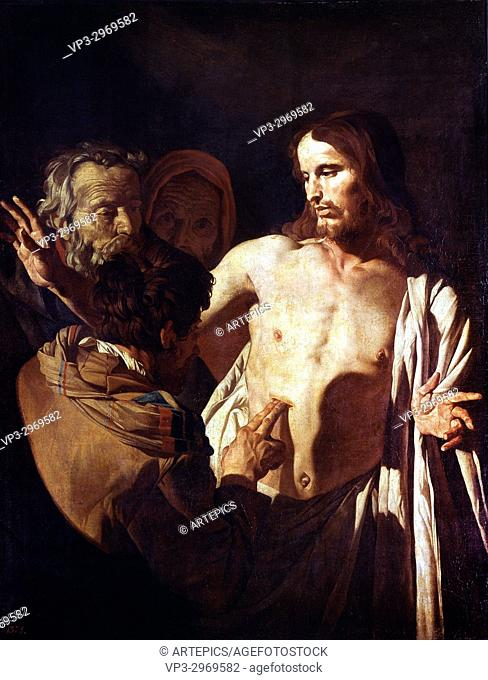 Gerrit Von Honthorst - . The Incredulity of St. Thomas. 17th century .