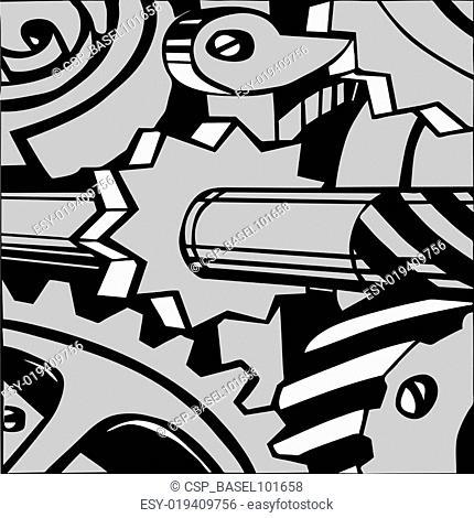 vector illustration of the mechanism