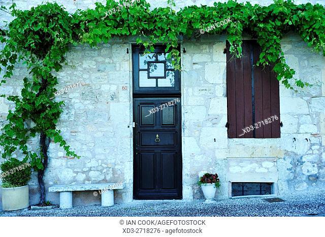 doorway, Monflanquin, Lot-et-Garonne Department, Aquitaine, France