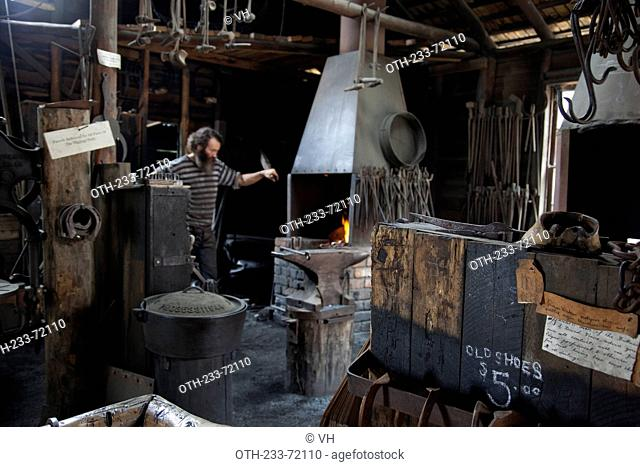 Sovereign Hill, museum depicts the 1850s goldmining township in Ballarat, west of Melbourne, Victoria, Australia