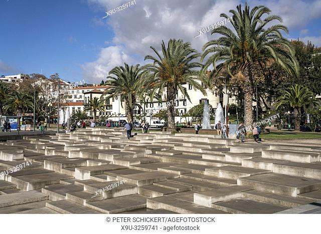 Park and promenade Praca Do Povo, Funchal, Madeira, Portugal, Eu rope