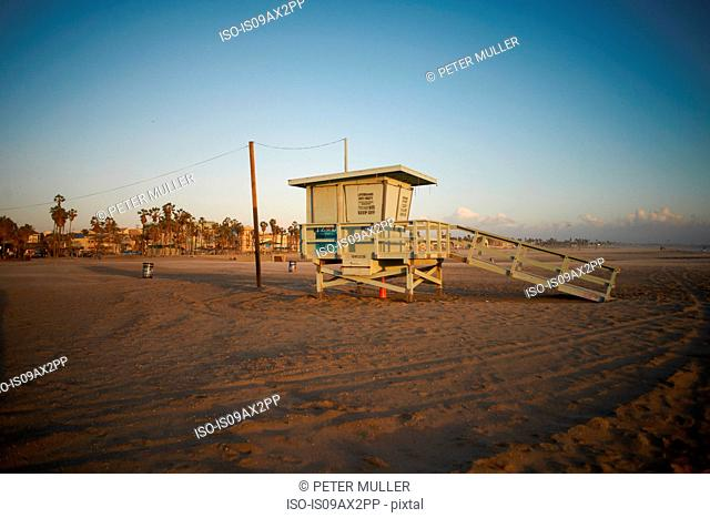 Lifeguard tower, Venice Beach, Los Angeles, USA