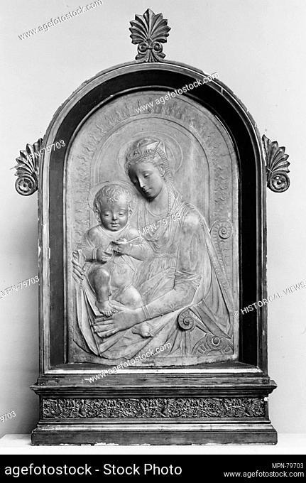 Virgin and Child. Artist: Mino da Fiesole (Mino di Giovanni) (Italian, Papiano or Montemignaio 1429-1484 Florence); Date: ca