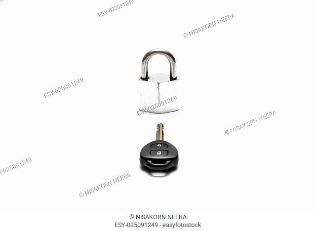 padlock and car key