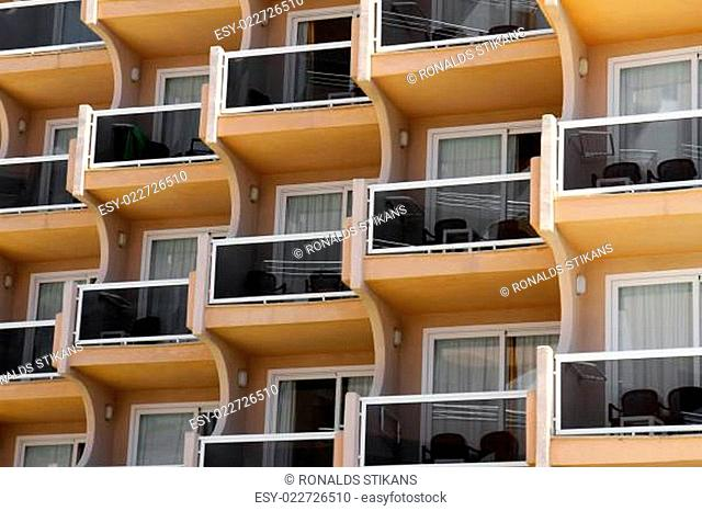 close up view of building with balconies