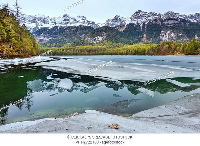 Lake Tovel, Trentino Alto Adige, Italy