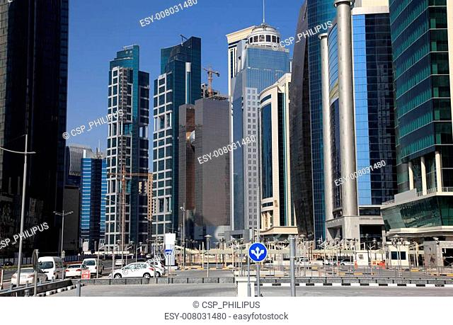 Doha downtown district West Bay, Qatar