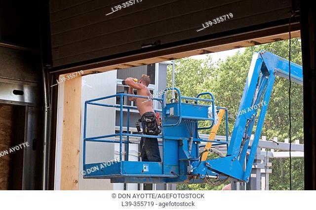Window installer in Massachusetts. USA